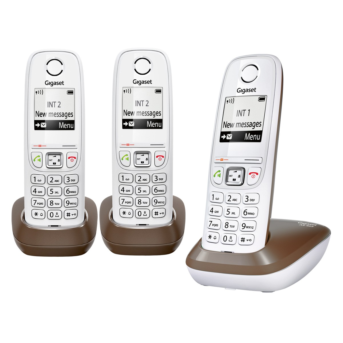 as405 trio chocolate gigaset t l phonie dect. Black Bedroom Furniture Sets. Home Design Ideas